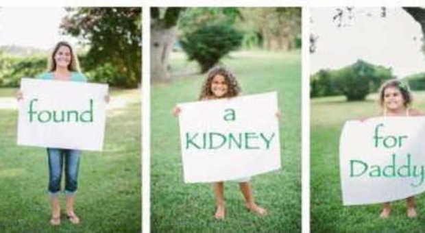 Mettono un annuncio su facebook, A papà serve un rene, trovano un donatore