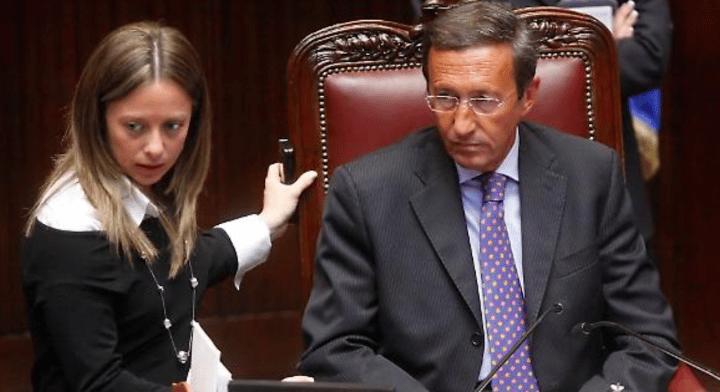 Giorgia Meloni come Gianfranco Fini, la risposta della leader di Fdi a Tagadà su La7 è da Oscar…