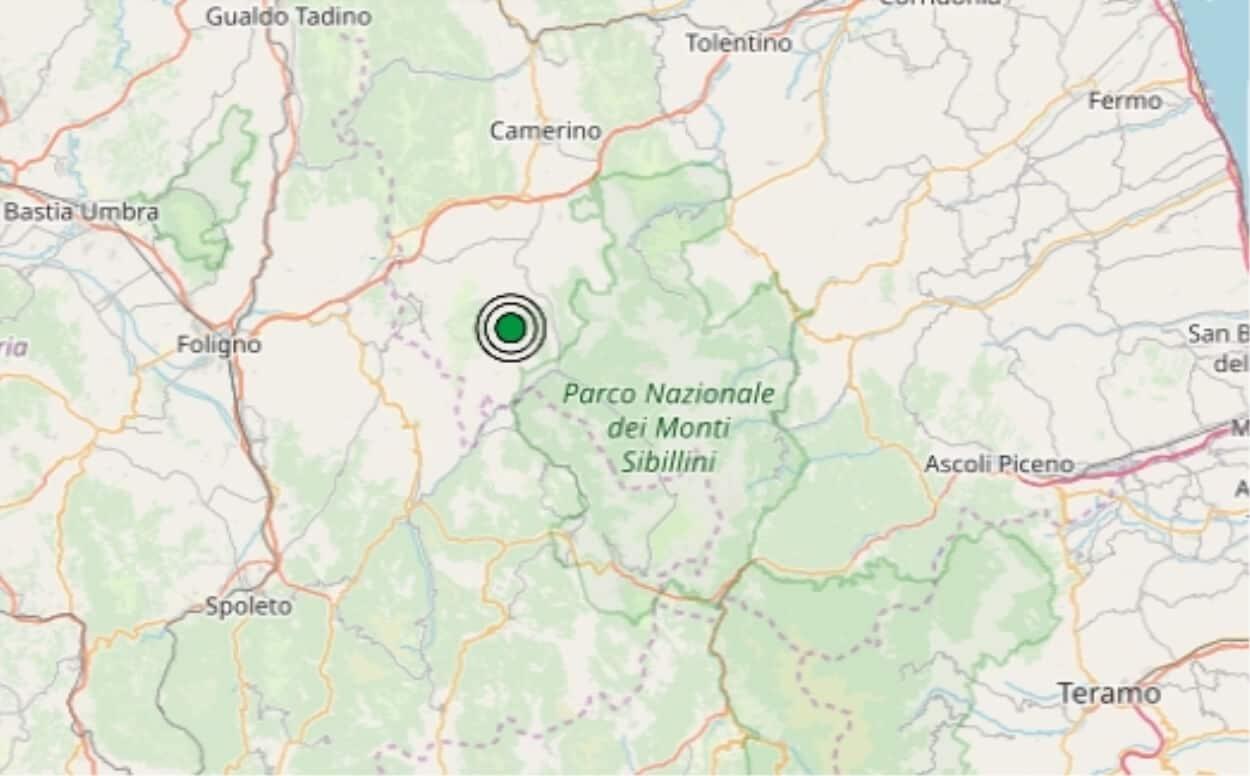 Terremoto in tempo reale, nuova scossa nelle Marche, trema la terra a Macerata