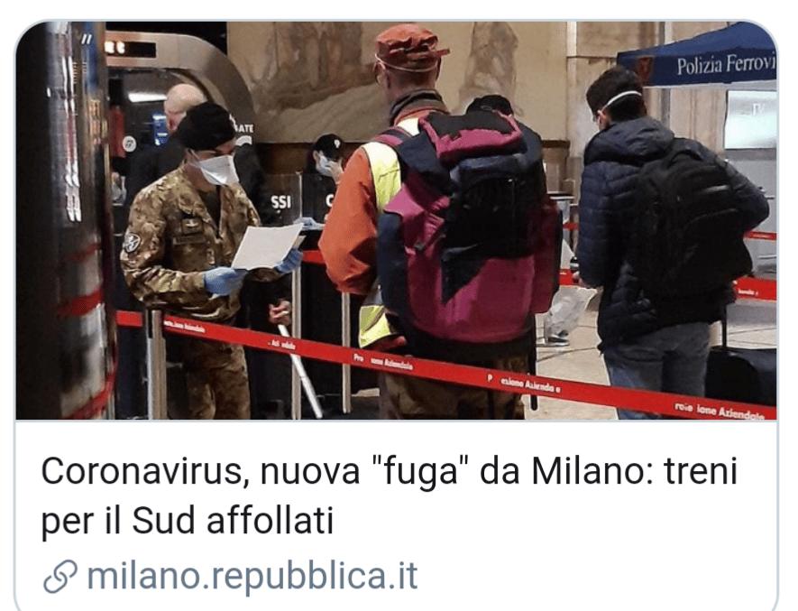 """Emergenza Coronavirus, nuovo esodo da Milano nella notte, treno Milano – Lecce stracolmo di gente, il personale Trenitalia """"non rispettate norme di sicurezza"""""""