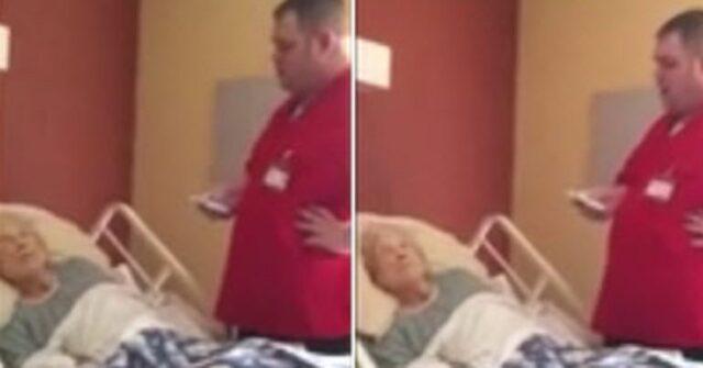 In punto di morte esprime l'ultimo desiderio e allora l'infermiere prende il suo telefono e lo esaudisce