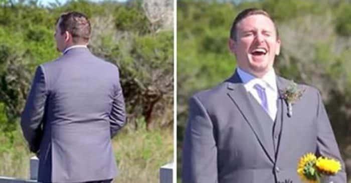 Lo sposo emozionato aspetta la sposa all'altare ma quando lei arriva, lui rimane di ghiaccio