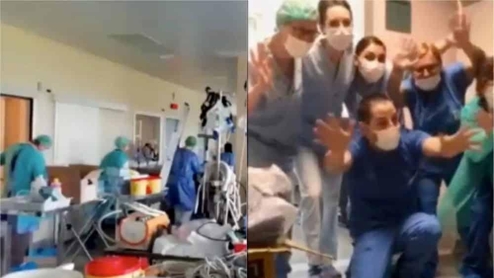 Emergenza Covid, al Niguarda di Milano, i medici fanno festa il reparto di malattia infettiva è vuoto!