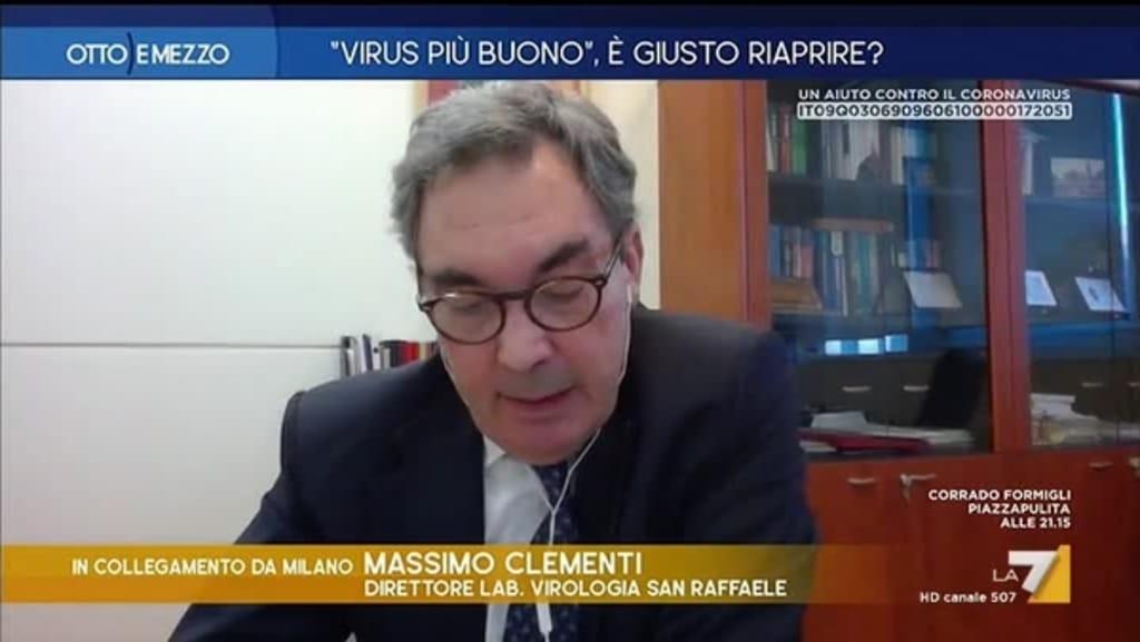 """Virologo del San Raffaele di Milano a Otto e Mezzo """"il covid-19 potrebbe diventare innocuo come un raffreddore"""""""