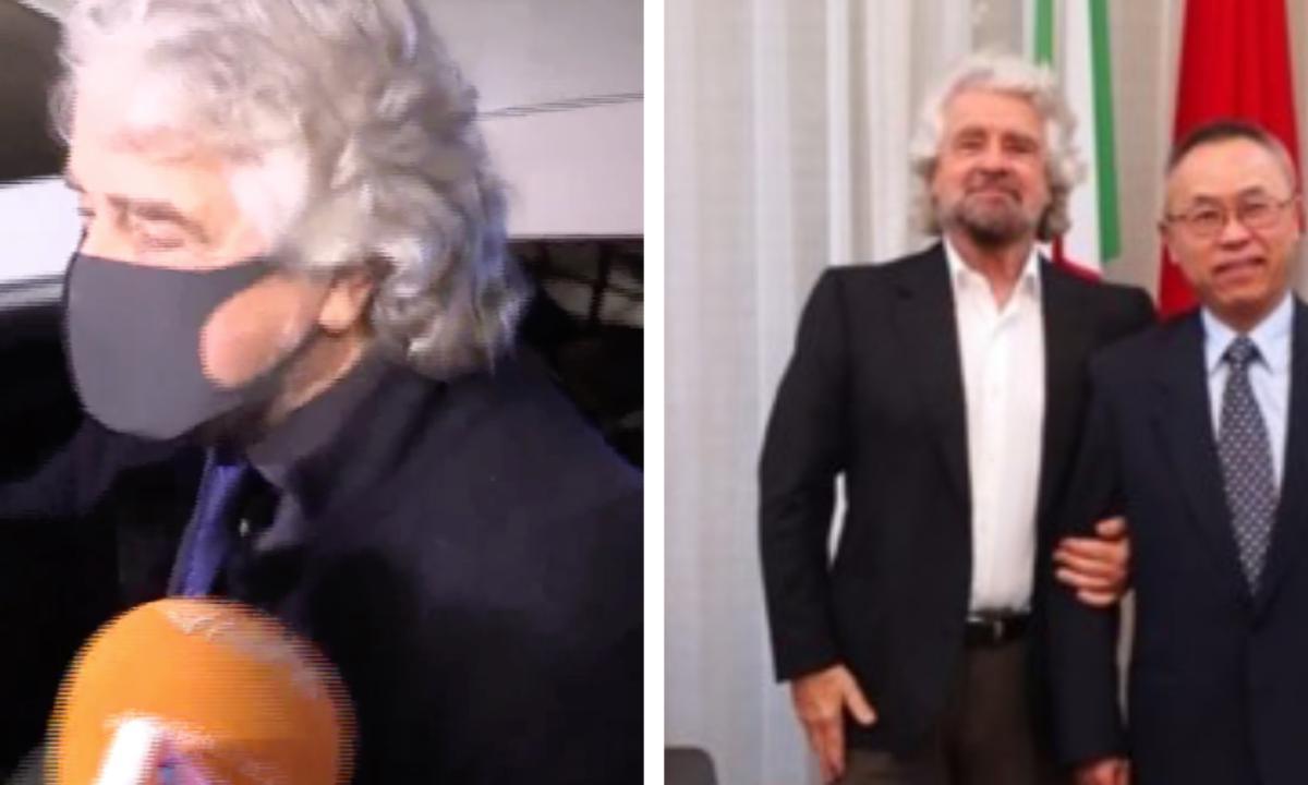 """Mistero Beppe Grillo, dal 17 dicembre girava con la mascherina """"Voglio igienizzare la vostra società, mi proteggo dai vostri virus"""""""