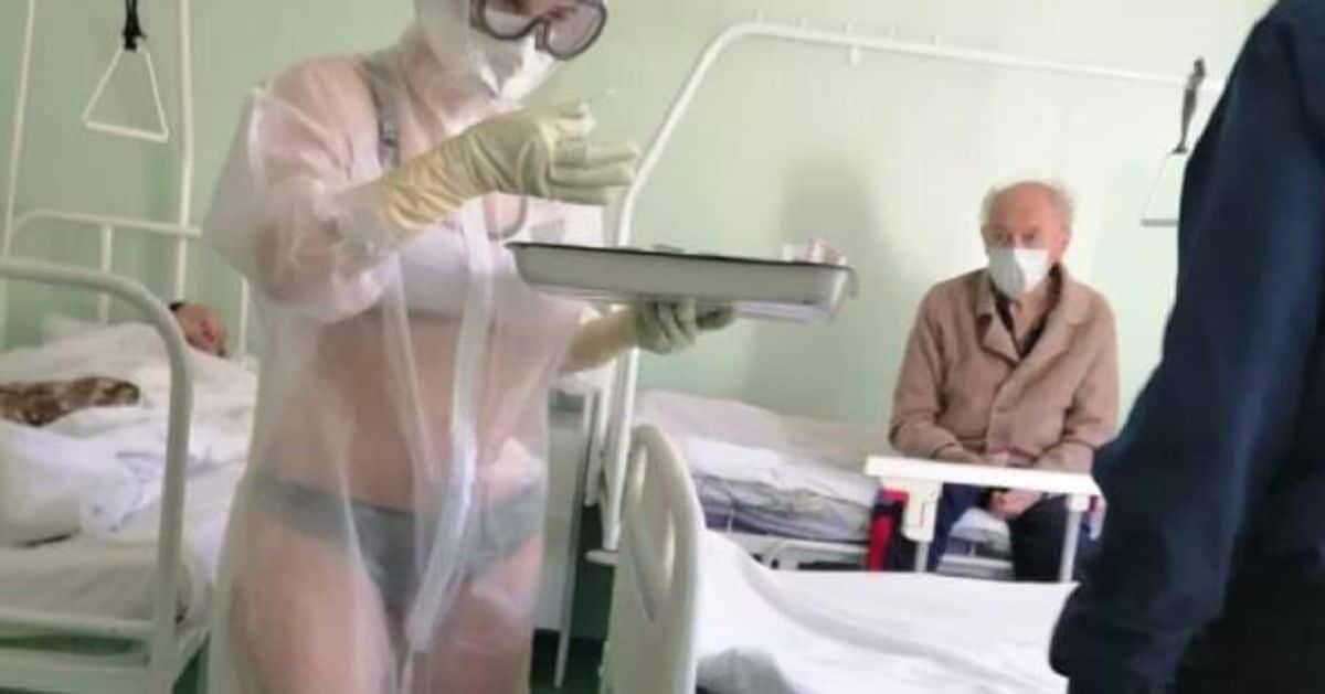 """Giovane infermiera si presenta in reparto col bikini sotto la tuta protettiva trasparente e viene sanzionata, """"avevo caldo"""""""
