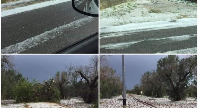 Su una zona di Puglia si è abbattuta una tempesta di ghiaccio, l'eccezionale grandinata ha imbiancato un'intera città
