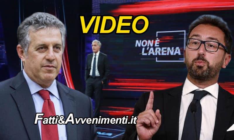 """Scontro tra Bonafede e Di Matteo a """"Non è l'Arena"""", Salvini se mente un magistrato """"E' grave"""" se mente un ministro """"E' devastante"""""""
