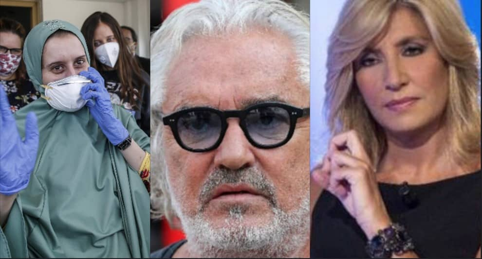 """Flavio Briatore attacca il governo """"Multa i lavoratori che protestano, ma l'ammasso di gente intorno a Silvia Romano?"""""""
