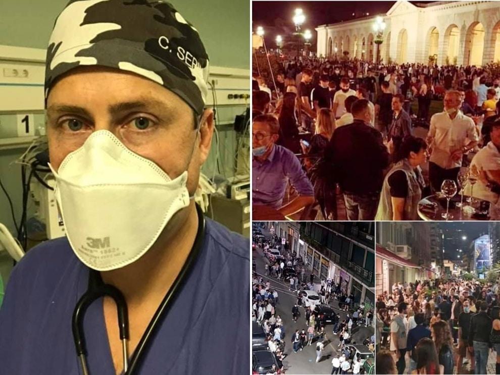 Emergenza Covid-19, medico si schiera contro la movida «Non voglio rivivere gli ultimi tre mesi per colpa dei cretini»