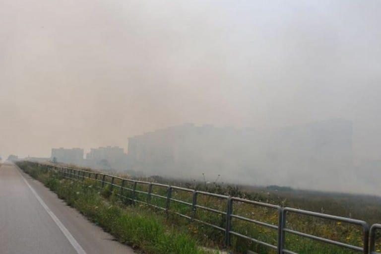 Bari, scoppia un incendio alla zona industriale, vigili del fuoco e polizia municipale al lavoro