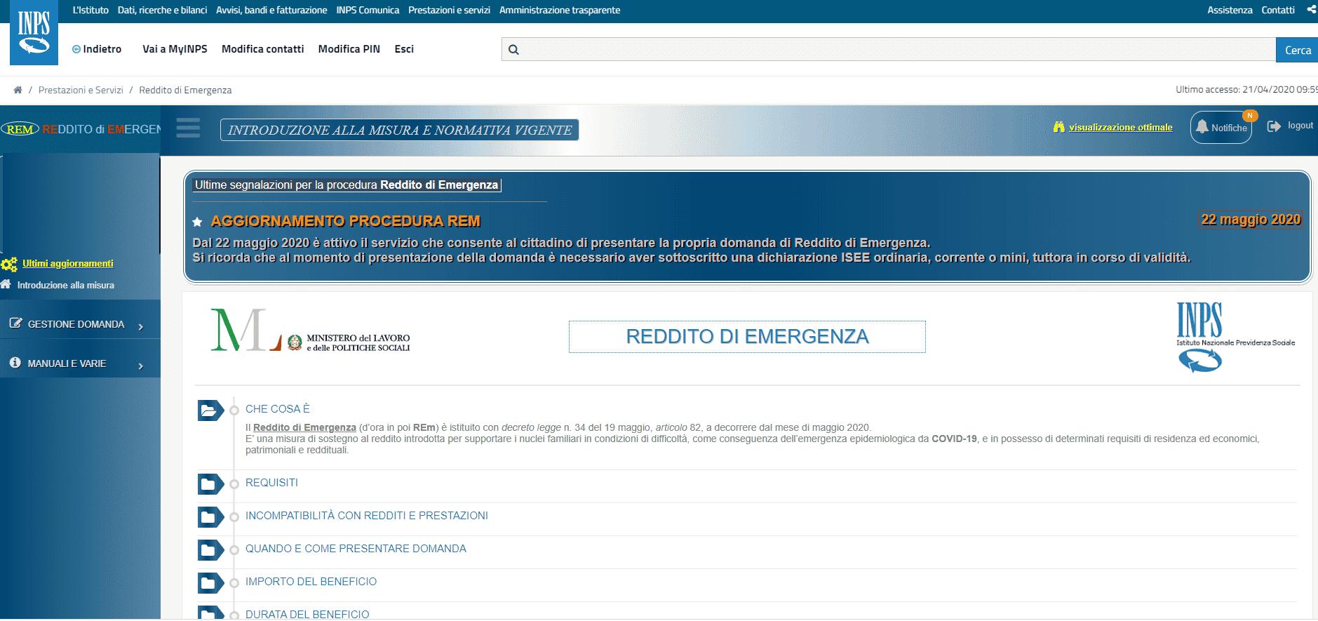 Reddito di emergenza, Inps darà fino 840 euro ma bisognerà presentare la domanda entro il 30 giugno