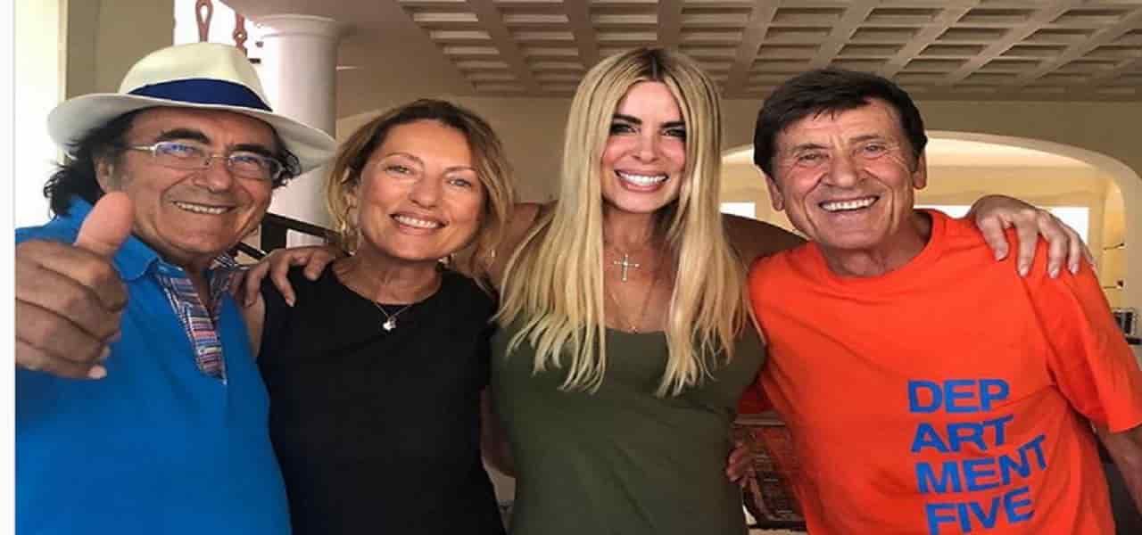 """Albano e Loredana Lecciso, Gianni Morandi va a Cellino San Marco e trascorre qualche giorno a casa loro poi posta una foto e scrive """"non c'è …"""