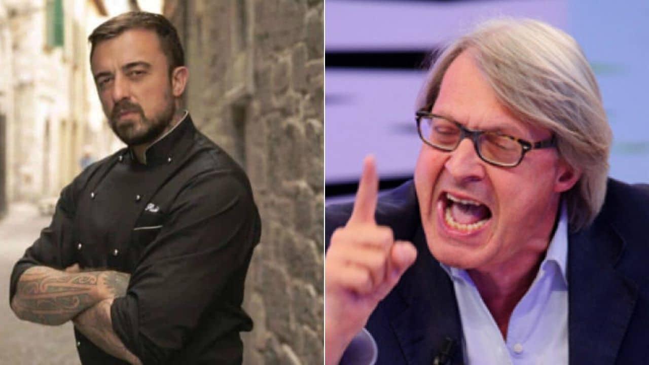 """Vittorio Sgarbi fa un post, Chef Rubio lo attacca e Sgarbi : """"Hai finito il detersivo dei piatti e non sai come ammazzare il tempo, vero?"""""""