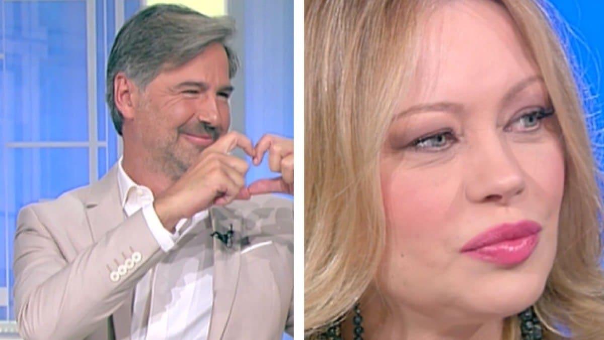 """Beppe Convertini pazzo di Anna Falchi: """"Sei così bella, così tanta"""", lei imbarazzata rimane senza parole, gelo in studio"""