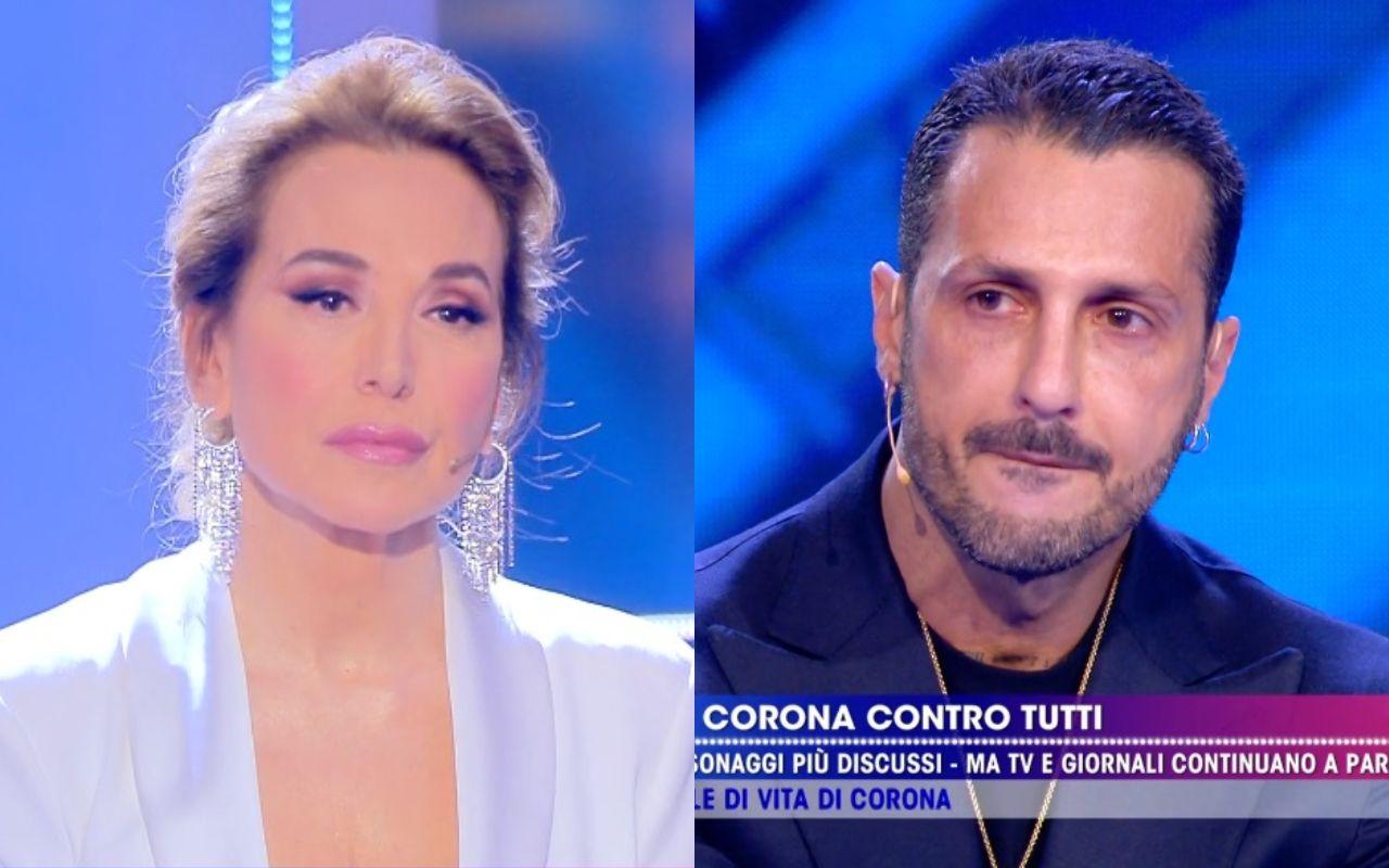Fabrizio Corona fa complimenti espliciti a Barbara D'Urso e lei reagisce in modo inaspettato