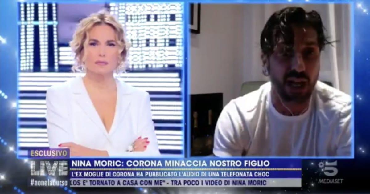 Fabrizio Corona esagera in trasmissione dalla D'Urso che toglie il collegamento, lui continua su Instagram e chi lo ascolta rimane raggelato