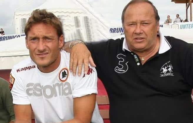 """Totti e lo straziante addio a papà Enzo, """"Vorrei ancora sentire la tua voce, grazie per essere stato sempre un padre, eri e sarai per sempre il mio orgoglio"""""""
