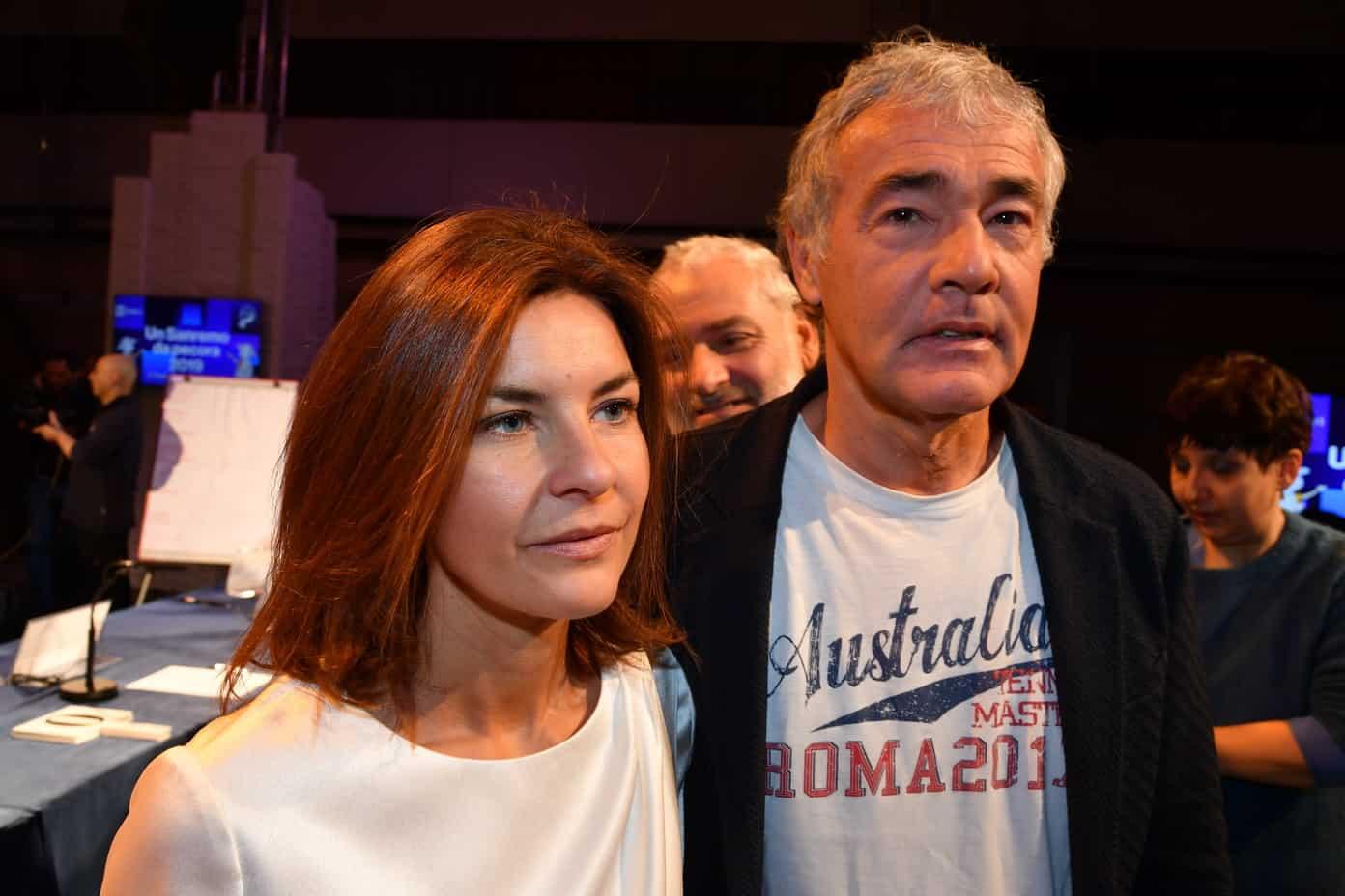 Non è L'Arena, Alessandra Moretti la ex di Giletti lo stuzzica in diretta e lui risponde a tono, imbarazzo in studio