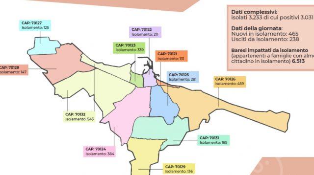 Bari, in una sola settimana 800 positivi in più, il quartiere più colpito il San Paolo con 545 contagiati