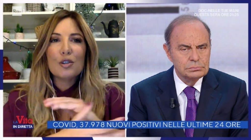 Vita in Diretta, Selvaggia Lucarelli attacca Bruno Vespa che la asfalta in due parole