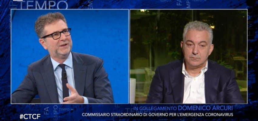 Che tempo che fa, Fabio Fazio manda la pubblicità e il gesto che fa Arcuri è assurdo, il web si rivolta