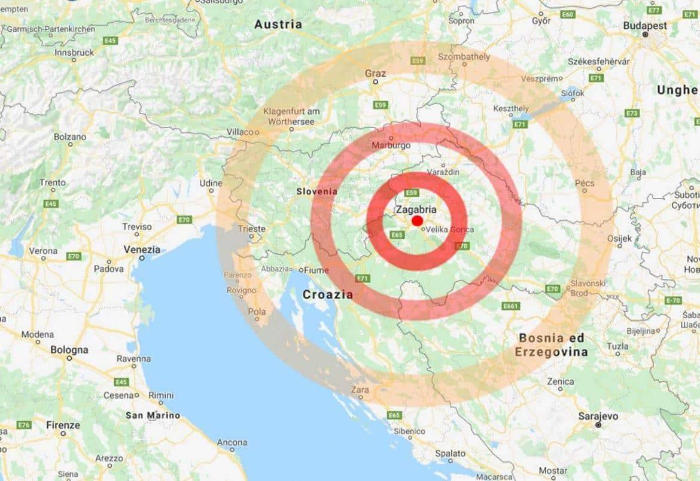 Terremoto in tempo reale, nuova forte scossa in Croazia, avvertita in gran parte dell'Italia