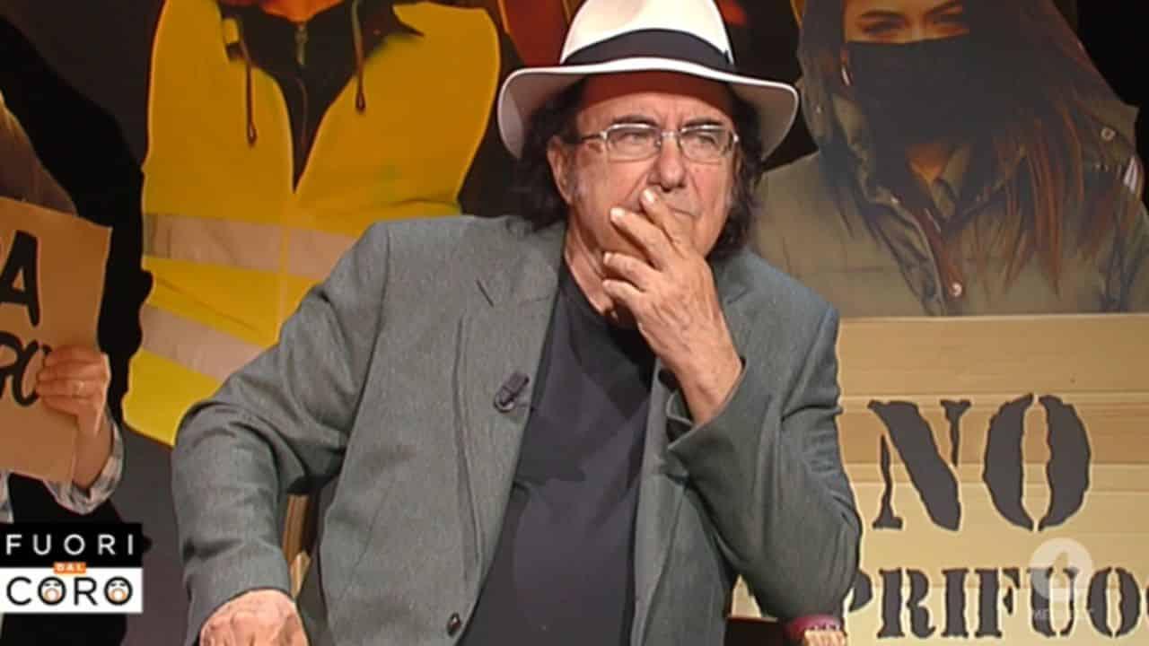 Albano a Fuori dal coro, Mario Giordano gli fa una domanda ma la risposta di Al Bano lo gela, Giordano prova a rimediare