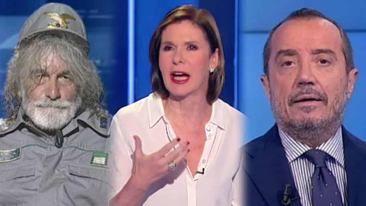 La Rai trema, in tv confronto tra Mauro Corona, Bianca Berlinguer e Franco Di Mare