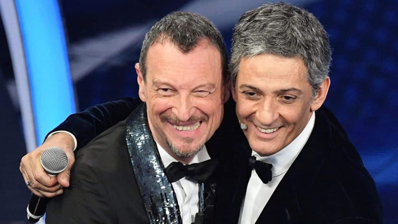 Sanremo, Amadeus rivela il motivo della scelta della Palombelli e Fiorello gli lancia una frecciatina