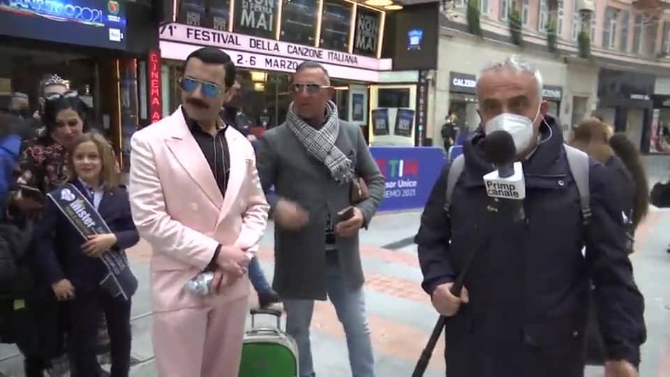 """Sanremo 2021, cantante pugliese arrestato, si esibiva senza mascherina, ai poliziotti """"Voi siete la legge, io sono una leggenda"""""""
