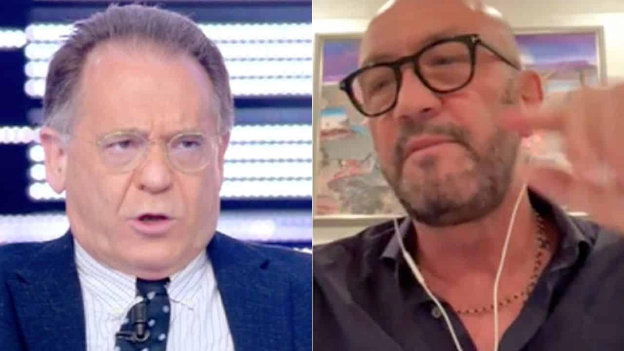 """Non è la D'Urso, violentissima lite, Alessandro Cecchi Paone a Walter Zenga """"ignorante, buzzurro, scemo …"""" e Zenga …"""