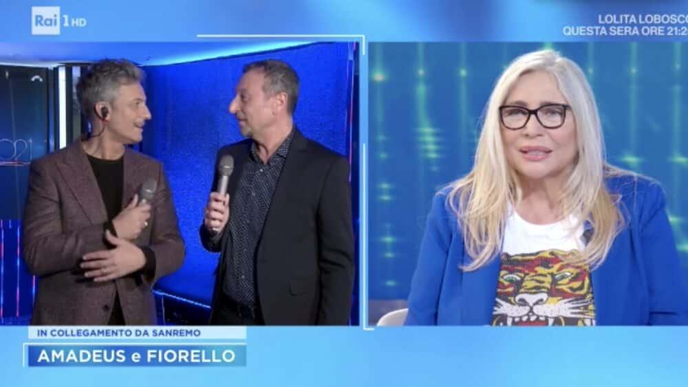 Sanremo 2022 bomba di Fiorello, Mara Venier a bocca aperta e poi cambia subito argomento