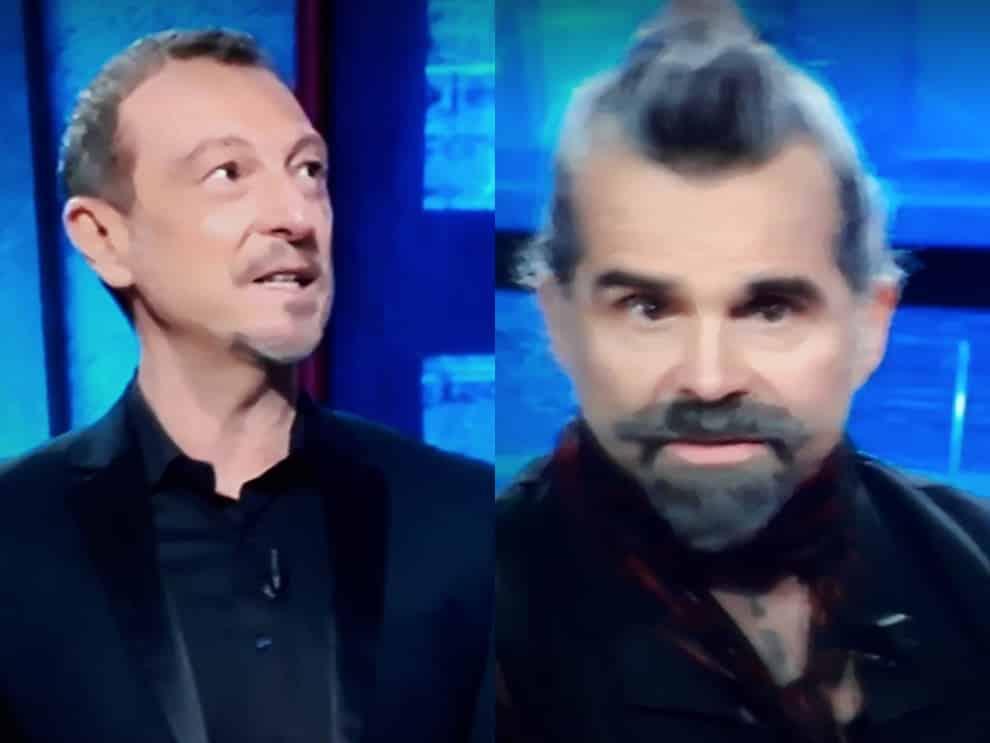"""I soliti ignoti, Piero Pelù dà una risposta ad Amadeus che lo guarda senza parlare più, il web impazzisce """"Pelù è il …»"""