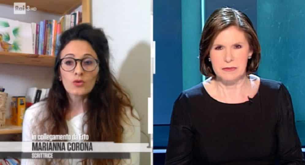 Cartabianca, la Berlinguer, al veleno contro la Rai, ha in studio la figlia di Mauro Corona e dice …., momenti di grande imbarazzo
