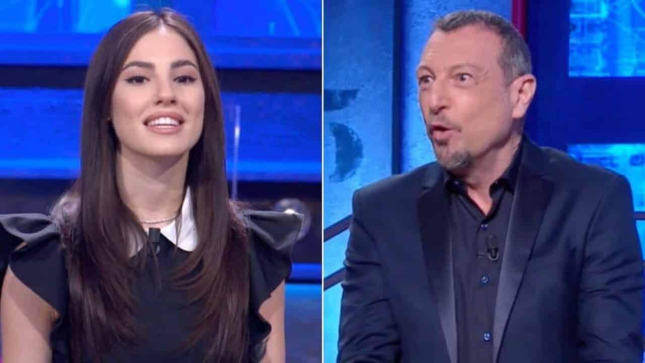 I Soliti Ignoti, Giulia De Lellis ha da ridire sulle regole del gioco e Amadeus le risponde a tono