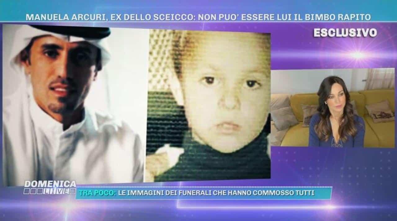 """Domenica Live, Mauro Romano rapito, Manuela Arcuri: """"Io sono stata fidanzata con lo sceicco e posso dire che …"""""""