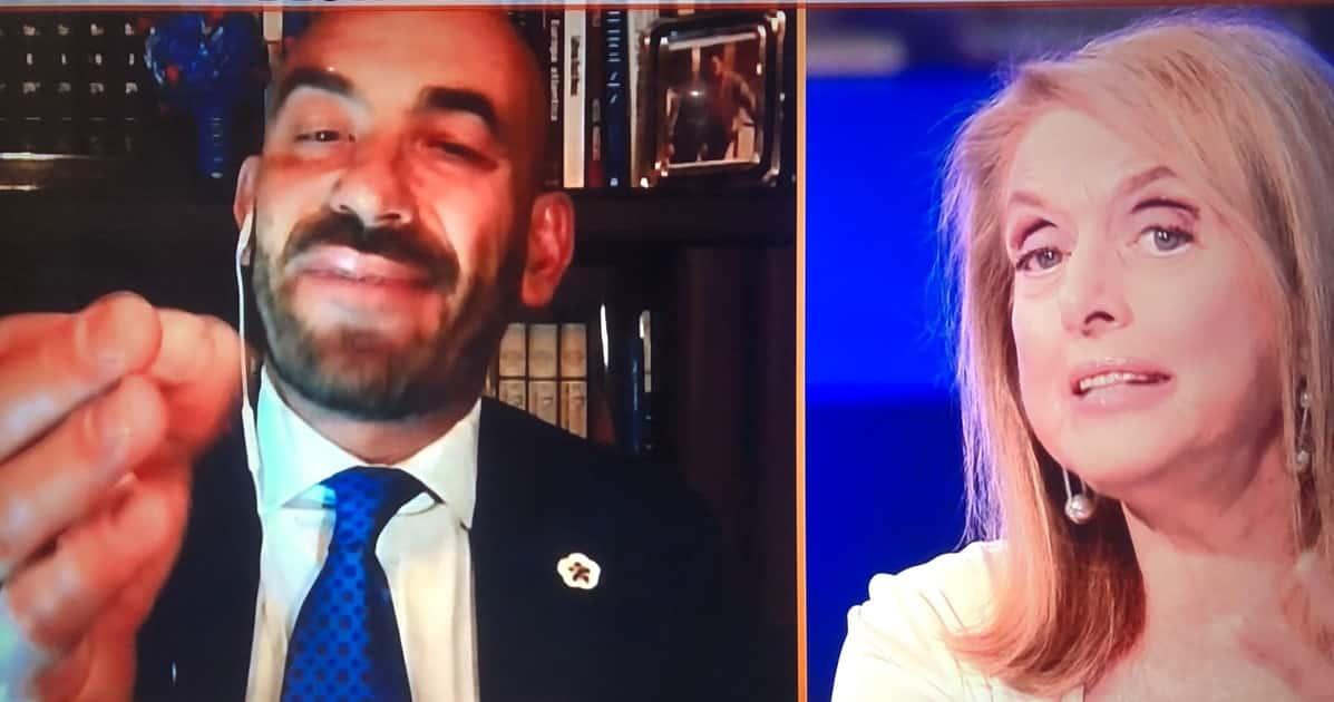 """Zona Bianca, violentissima lite tra Antonella Boralevi e Matteo Bassetti, lei """"Sta più in televisione che in corsia"""" lui """"ma vaff … """""""