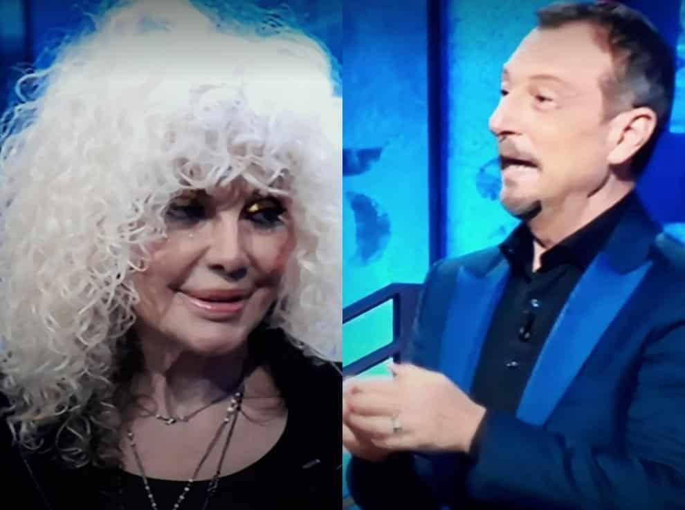 I Soliti Ignoti, Amadeus una furia contro Donatella Rettore «Fammi finire di parlare…»