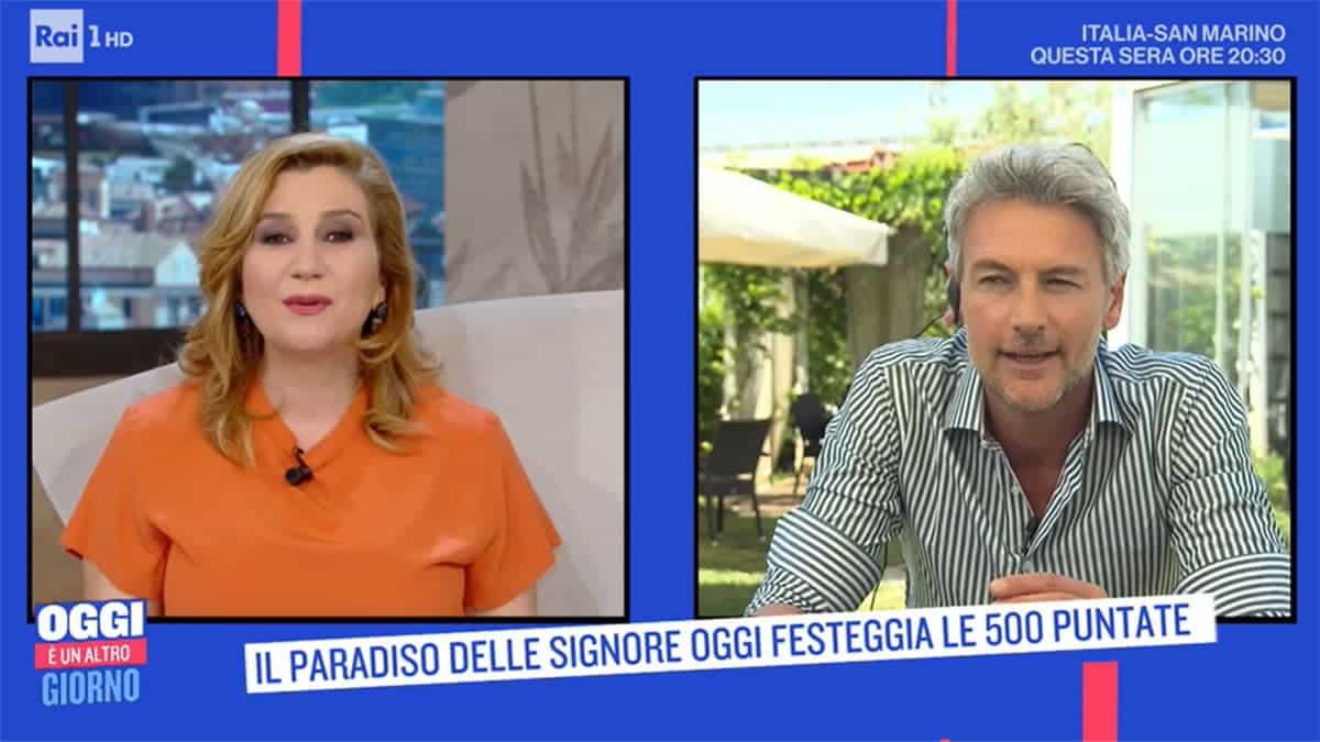 Oggi è un altro giorno, Serena Bortone fa una gaffe in diretta tv nell'annunciare Roberto Farnesi e dice …