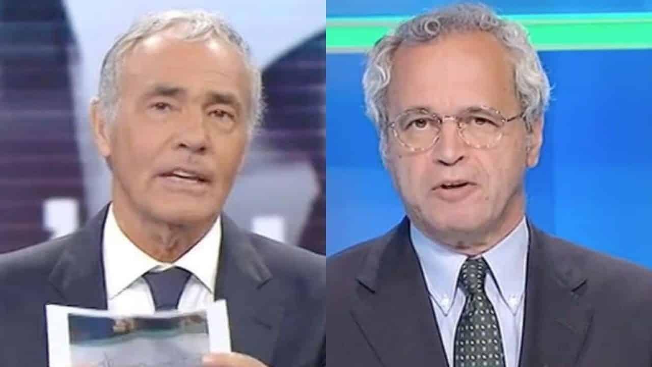 Non è l'arena, Massimo Giletti fa una domanda a Enrico Mentana e la risposta lo gela, grande imbarazzo in studio