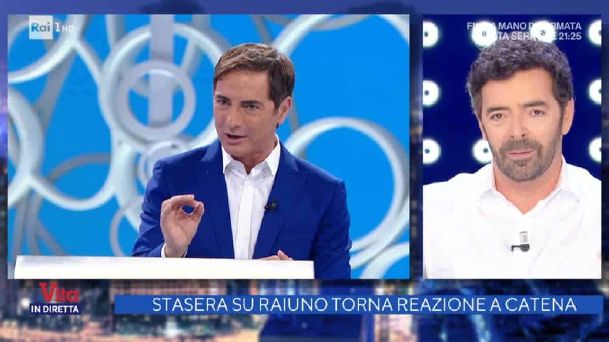 """Alberto Matano a Marco Liorni """"Sto già tremando …"""""""