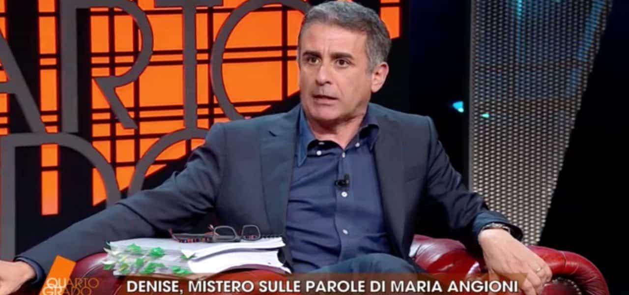"""Quarto Grado, Gianluigi Nuzzi una furia contro Carmelo Abbate """"Non parlare male di …"""", momenti di tensione in studio"""