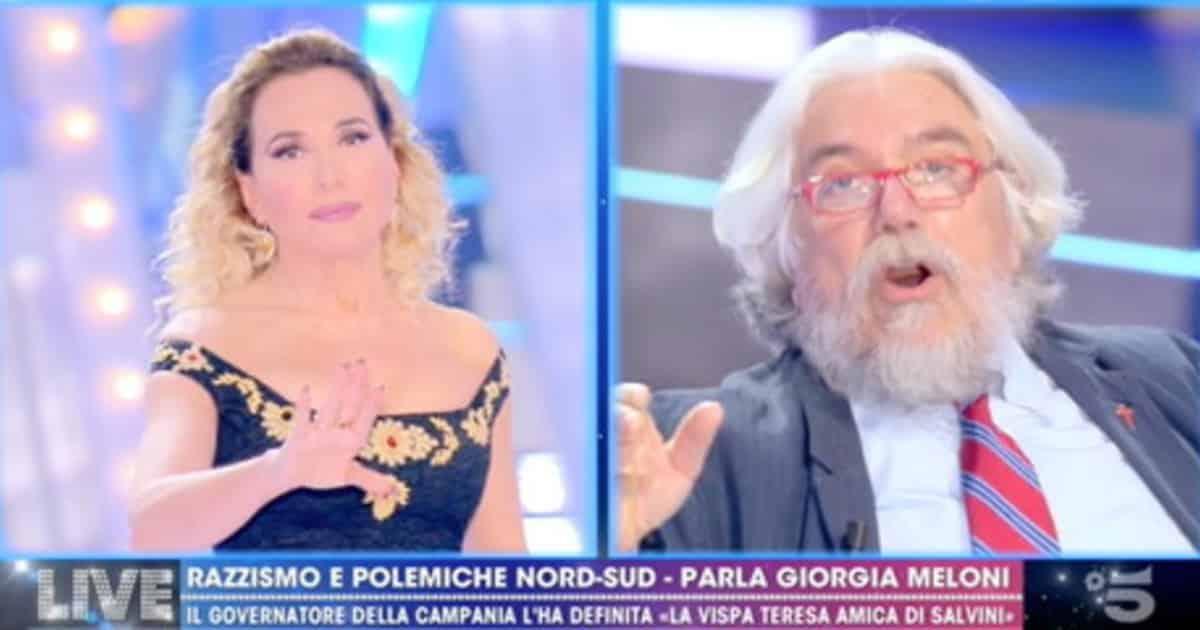 """Pomeriggio 5, Alessandro Meluzzi una furia contro Barbara D'Urso: """"Non dovevi invitarmi""""."""